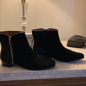 Louise et Cie Short Suede and Fur Boots